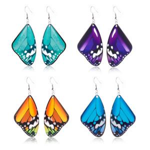 Acrylic butterfly earrings 316L stainless steel ear hooks