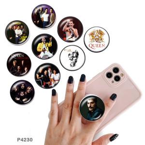 Musikband Der Handyhalter Lackierte Telefonsteckdosen mit schwarzem oder weißem Druckmusterboden