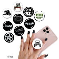 ジープ携帯電話ホルダー黒または白のプリントパターンベースの塗装済み電話ソケット
