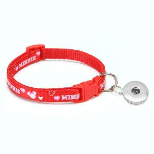 Pet Patch Bell Collar Katze Hundehalsband Collar Collar Collar Cat Head Collar Small Dog fit 1 18 & 20MM Snap Buttom Snap Schmuck