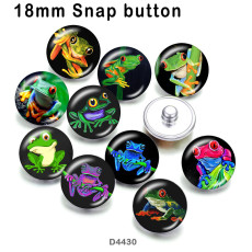 10 pcs/lot produits d'impression d'image en verre de grenouille de différentes tailles cabochon d'aimant de réfrigérateur
