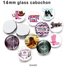 10 pcs/lot chaussures produits d'impression d'image en verre de différentes tailles cabochon d'aimant de réfrigérateur