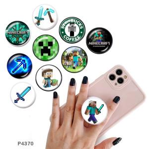 Jeu Le support de téléphone portable Prises de téléphone peintes avec une base à motif imprimé noir ou blanc