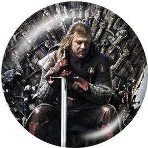 Game of Thrones Le support de téléphone portable Prises de téléphone peintes avec une base à motif imprimé noir ou blanc