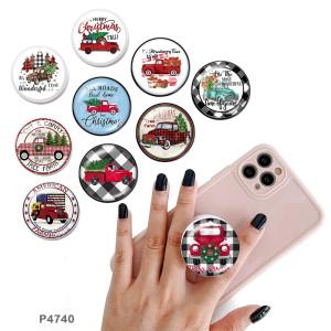 Voiture Le support de téléphone portable Prises de téléphone peintes avec une base à motif imprimé noir ou blanc
