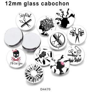 10pcs / lot Stylist Glasbilddruckprodukte in verschiedenen Größen Kühlschrankmagnet Cabochon