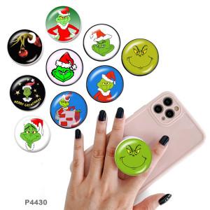 Christmas Geek Le support de téléphone portable Prises de téléphone peintes avec une base à motif imprimé noir ou blanc