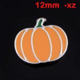 Drehbarer Druckknopf 12MM Weihnachten Halloween Tier Cartoon Design Metall versilbert Snap Charms Multicolor