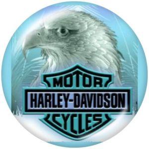 Harley Motors Le support de téléphone portable Prises de téléphone peintes avec une base à motif imprimé noir ou blanc