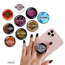 ハーレーモーターズ携帯電話ホルダー黒または白のプリントパターンベースの塗装済み電話ソケット