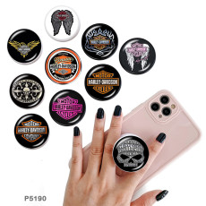 Harley Motors The mobile phone holder Painted phone sockets with a black or white print pattern base