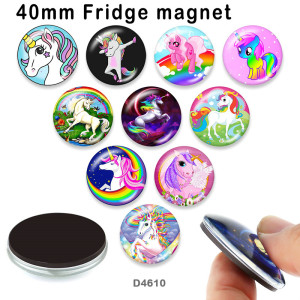 10pcs/lot  Unicorn  glass picture printing products of various sizes  Fridge magnet cabochon
