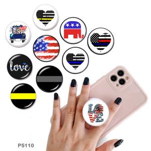 Drapeau national Le support de téléphone portable Prises de téléphone peintes avec une base à motif imprimé noir ou blanc