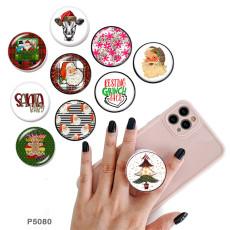 クリスマス携帯電話ホルダー黒または白のプリントパターンベースの塗装済み電話ソケット
