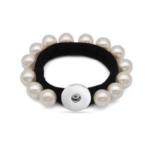 1 boutons Bracelet de perles élastiques pour attacher les cheveux et bandes élastiques pour poignets de petites filles type Bracelet s'adapte à des morceaux de boutons-pression de 20 mm