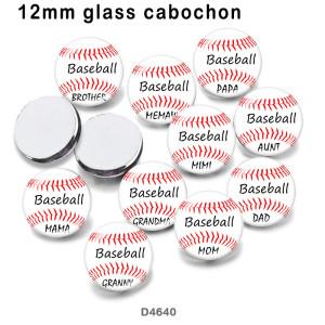 10 pcs/lot MOM MIiMi NaNa produits d'impression d'images en verre de différentes tailles Cabochon d'aimant de réfrigérateur