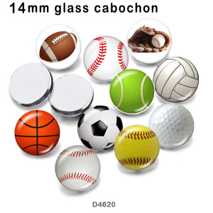 10pcs/lot Baseball  Volleyball glass picture printing products of various sizes  Fridge magnet cabochon