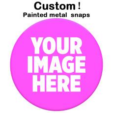 塗装済み15MM20MM25MMメタルスナップボタンお客様のカスタマイズパターンをカスタマイズ