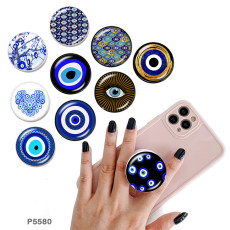 Demon Eye The mobile phone holder Painted phone sockets with a black or white print pattern base