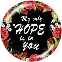 Faith hope mom The mobile phone holder Painted phone sockets with a black or white print pattern base