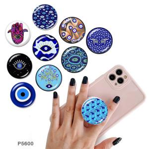 Demon Eye Le support de téléphone portable Prises de téléphone peintes avec une base à motif imprimé noir ou blanc