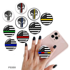 Flag skull The mobile phone holder Painted phone sockets with a black or white print pattern base
