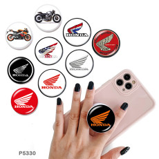 Motorcycle The mobile phone holder Painted phone sockets with a black or white print pattern base