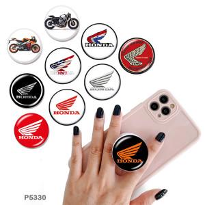 Moto Le support de téléphone portable Prises de téléphone peintes avec une base à motif imprimé noir ou blanc