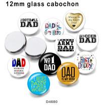 10pcs / lot Footbll DAD Glasbilddruckprodukte in verschiedenen Größen Kühlschrankmagnet Cabochon