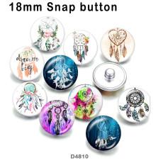 10 pcs/lot Dreamcatcher produits d'impression d'images en verre de différentes tailles Cabochon d'aimant de réfrigérateur
