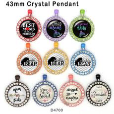 10pcs / lot tragen MAMA Glasbilddruckprodukte in verschiedenen Größen Kühlschrankmagnet Cabochon