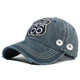Nouveau style coton lavé nouveau style 66 casquette de baseball brodée route fit 18mm bouton-pression beige
