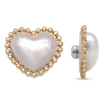 20MM  Love pearl golden with Alloy backing snap buttons