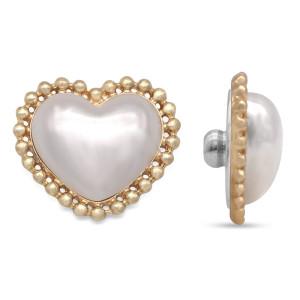 20MM Love Pearl Gold mit Druckknöpfen auf der Rückseite aus Aluminium