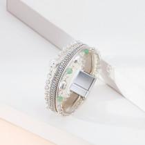 Small flower female bracelet multi-layer chain turquoise magnetic bracelet