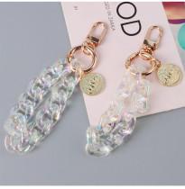 Legierungsliste Schlüsselanhänger Traumkette Acryl Schlüsselanhänger Tasche hängen bag