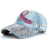 Pink Ribbon Dot Strass Baseball Cap fit 18mm Druckknopf beige