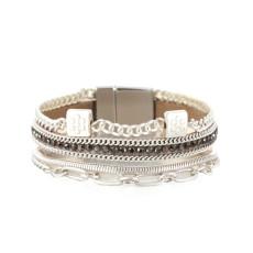 Summer vacation fresh and simple bracelet wind flower multi-layer female bracelet fashion hollow bracelet