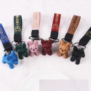 Mehrfarbiger Cartoon-Welpen-Schlüsselanhänger für Herren- und Damentaschen Auto-Schlüsselanhänger