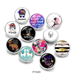 20MM  MOM Like  Butterfly Print   glass  snaps buttons