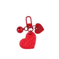 Kreative Sprühfarbe Legierung Leder Liebe Glocke Schlüsselanhänger Auto Schlüsselanhänger personalisierte Geschenk Rucksack Ornamente