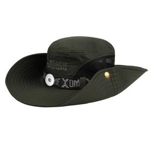 Sonnenhut Herren Sonnenhut, atmungsaktiv Outdoor UV-Schutz, Bergsteigen Angeln Sonnenhut Passform 18mm Druckknopf beige