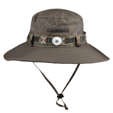 Sun hat men's sun hat, breathable outdoor UV protection, mountaineering fishing sun hat fit 18mm snap button beige