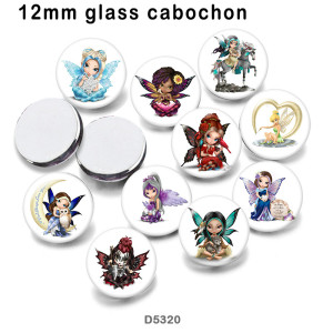 10pcs/lot  Butterfly  Elves  glass picture printing products of various sizes  Fridge magnet cabochon