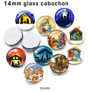 10pcs/lot  Merry Christm  glass picture printing products of various sizes  Fridge magnet cabochon