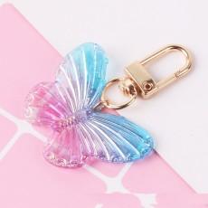 Bunter Schmetterling Schlüsselanhänger süß und süß Acryl Schmetterling Auto Fernbedienung Schlüsselanhänger weiblicher Taschenanhänger