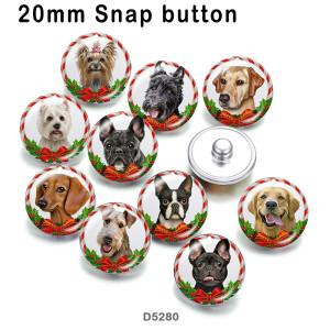 さまざまなサイズの10個/ロットのリストマス猫犬ガラス絵印刷製品冷蔵庫マグネットカボション