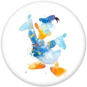 20MM Cartoon  Donald Duck  Print  glass  snaps buttons