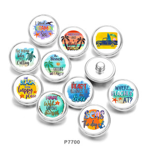 20MM summer  sea turtle  Print  glass  snaps buttons