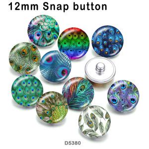 10pcs/lot  Feather  glass picture printing products of various sizes  Fridge magnet cabochon
